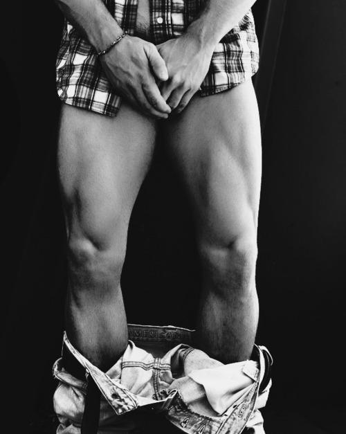 gay male model in his underwear