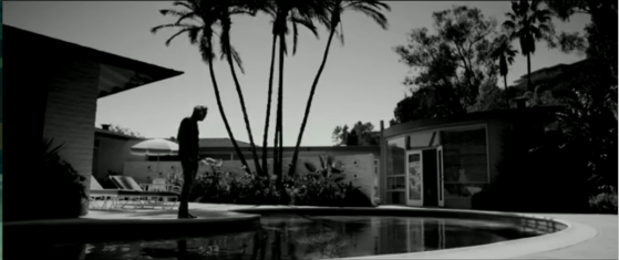 Music Video Screen Capture of Bradley Soileau by the poolside